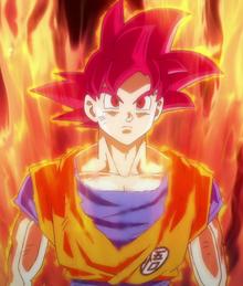 Goku w formie SSJ God
