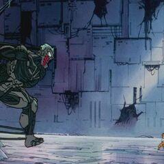 Cyborg olbrzym kontra Gokū (1)