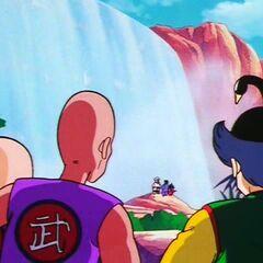 Żuraw i jego poplecznicy obserwują, jak Mutaito uczy Sona, jak panować nad <a href=