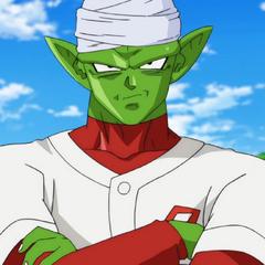 Piccolo podczas gry w baseballa