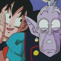 Gokū proponuje staruszkowi, że będzie mógł pomacać pupę i piersi <a href=