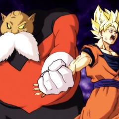 Gokū podczas walki z <a href=