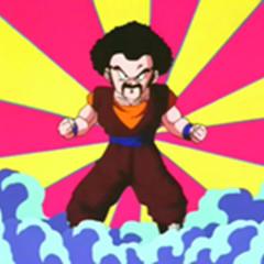 Gokū wyobraża sobie fuzję z Satanem