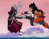 Whis trenujący Goku i Vegetę (SDBH, odc. 001)