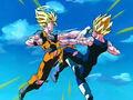 Majin Vegeta vs Son Goku