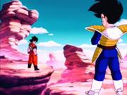 Goku vs. Vegeta - pierwsze starcie