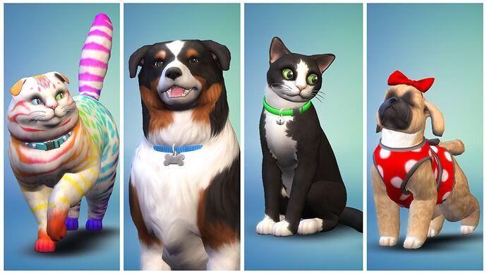 The Sims 4 Psy i koty 1