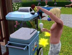 Maszyna do lodów w rożku