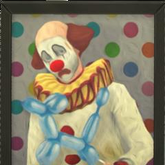 Obraz z Tragicznym Klaunem