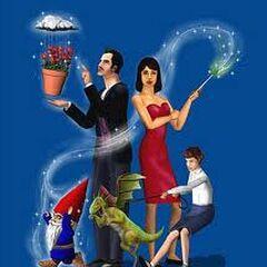 Bella, Mortimer i Kasandra w The Sims: Abrakadabra