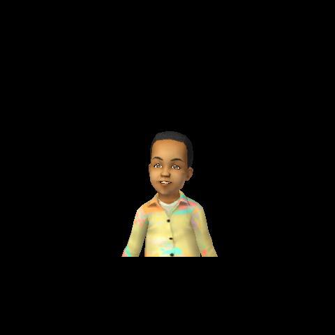 Portret Alojzego jako małego dziecka znaleziony w SimPE