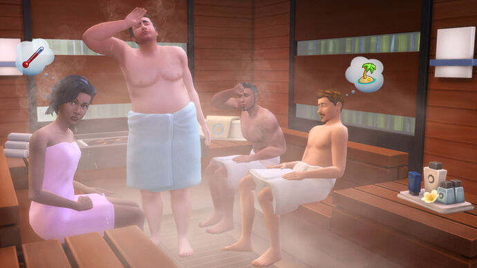 The sims 4 Dzien w spa