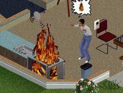 The Sims - pożar