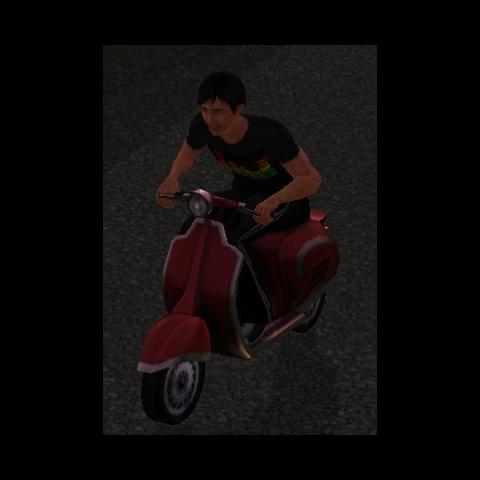 Sim jadący Kenspą