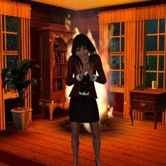 Zła czarownica po podpaleniu komisu w Moonlight Falls