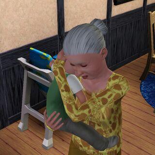 Sam z Babcią