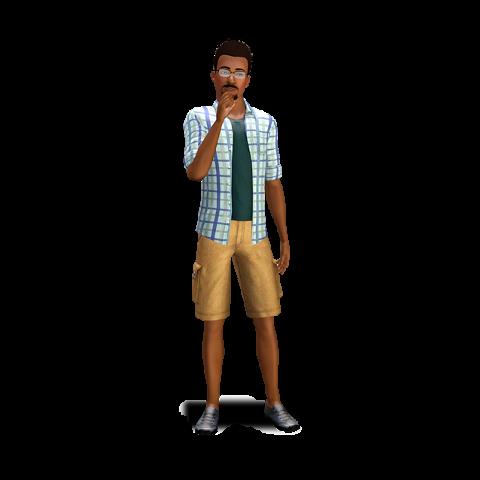 Dariusz jako młody dorosły w The Sims 3