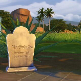 Nagrobek Sima w The Sims 4