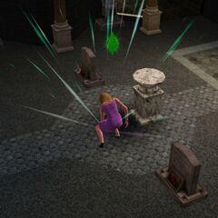 Simka w grobowcu