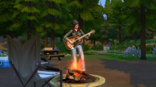 Simka przy ognisku