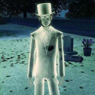 Duch Sima zmarłego przez klątwe mumii
