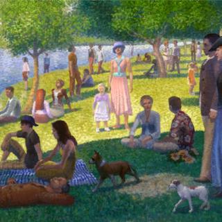 <i>Niedzielne popołudnie na wyspie Grande Jatte</i> autorstwa Georges-Pierre Seurat