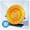 Złoty kalendarz omiskański Cetlcitli ze szmaragdami