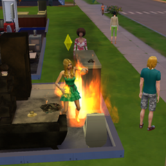 Pożar w The Sims 4