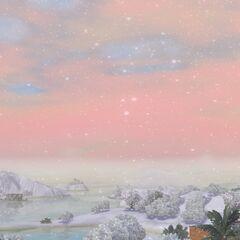 Isla zimą