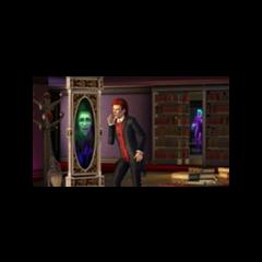 Sim przeglądający się w magicznym lustrze