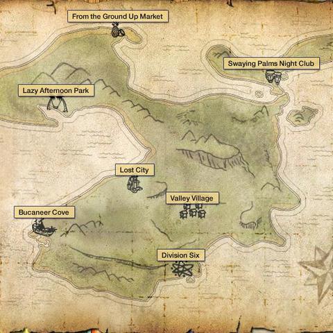 Mapa Wyspy Wannami