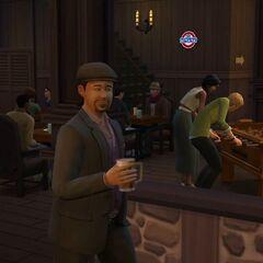 Simowie w pubie