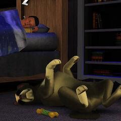 Śpiący pies z The Sims 3 Zwierzaki
