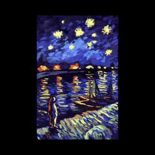 <i>Gwiaździsta noc nad Rodanem</i> autorstwa Vincenta van Gogha