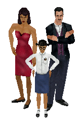 The Goth family - The Sims
