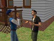 Maks i Michał podczas rozmowy