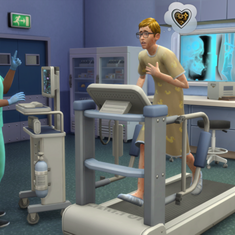 Chory Sim u lekarza