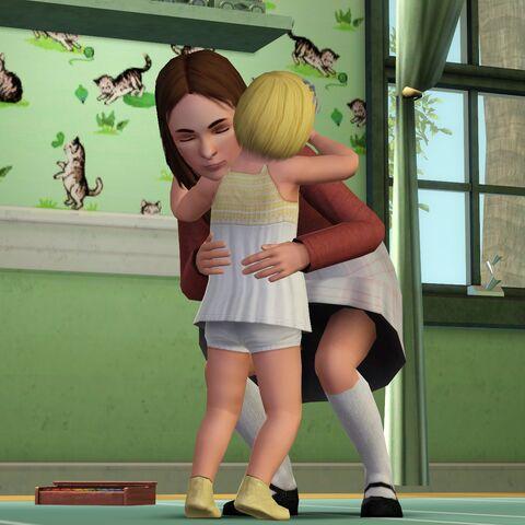 Grażyna i jej siostra w The Sims 3.