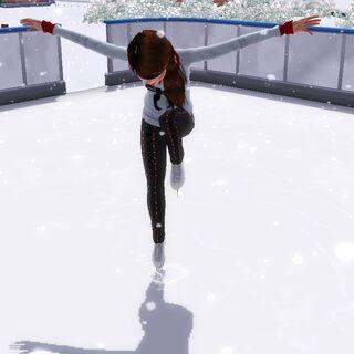 Simka na łyżwach