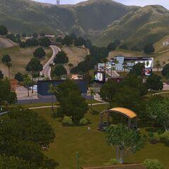 Główny park, widok w stronę gór