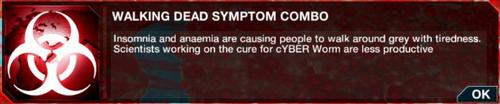 Walking Dead symptom combo