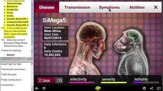 SiMega5 - Sketch's Plague Inc. Simian Flu Mega Brutal 5 Bio Video Guide
