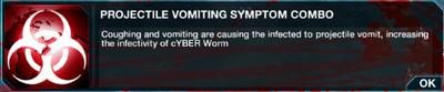 Projectile Vomiting symptom combo