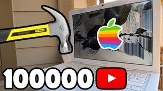 Bored Smashing - MacBook! 100K SPECIAL