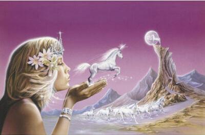Unicorn-princess-fantasy-art-poster-print