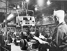 Boyertown Auto Body Works - trucks on assembly line, circa 1958