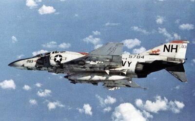 F-4J Phantom VF-114 in flight 1972