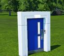 Planet Coaster Door Blue