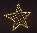 Festive Sign - Wall Sign Star 1 Lit