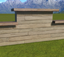 Natural Wood Plank Wall Top Flat Stepped